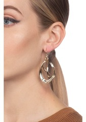 Alexis Bittar Two-Tone Orbiting Sculptural Earrings