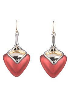 Alexis Bittar Two-Tone Sculptural Drop Earrings