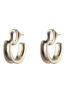 Alexis Bittar Two-Tone Sculptural Huggie Hoop Earrings