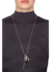 Alexis Bittar Two-Tone Sculptural Spike Pendant Necklace