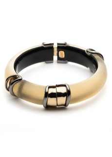 Alexis Bittar Two-Tone Sectioned Hinge Bracelet
