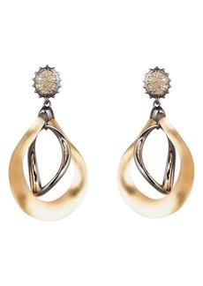 Alexis Bittar Two-Tone Wavy Orbital Drop Earrings