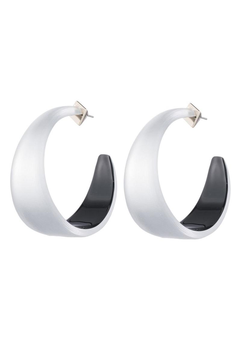 Alexis Bittar Wide Graduated Medium Hoop Earrings