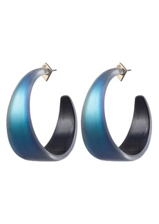 Alexis Bittar Wide Graduated Medium Hoop Earrings