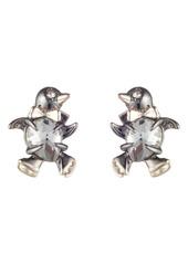 Alexis Bittar Winter Paisley Baby Penguin Stud Earrings