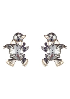 Alexis Bittar Winter Paisley Baby Penguin Stud Earrings