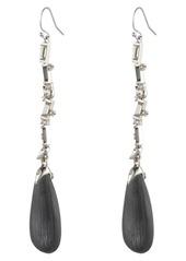Alexis Bittar Winter Paisley Crystal Baguette Linear Drop Earrings