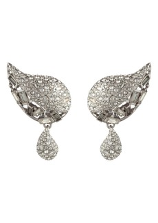 Alexis Bittar Winter Paisley Crystal Encrusted Drop Earrings