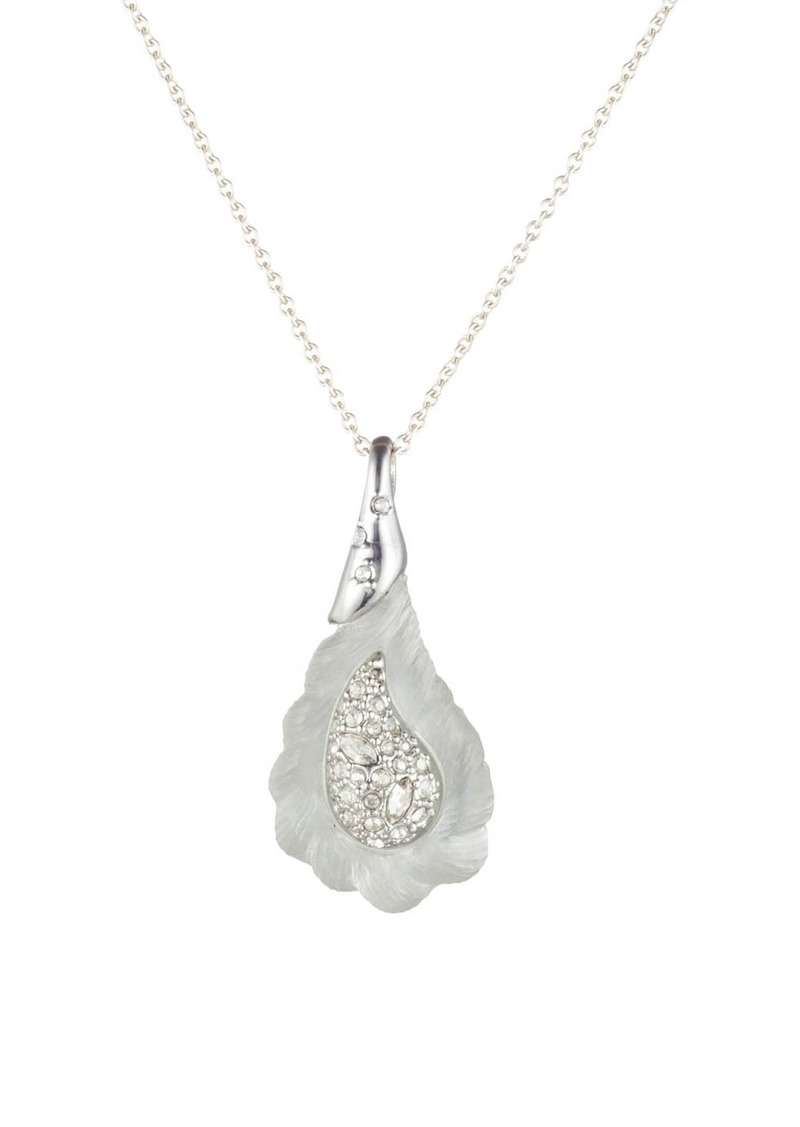 Alexis Bittar Winter Paisley Frosted Paisley Pendant Necklace