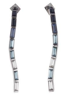 Alexis Bittar Winter Paisley Linear Crystal Earrings