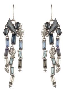 Alexis Bittar Winter Paisley Stone Cluster Drop Earrings