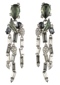 Alexis Bittar Winter Paisley Stone Cluster Earrings