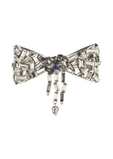 Alexis Bittar Baguette Pryrite, Hematite & Swarovski Crystal Bow Pin