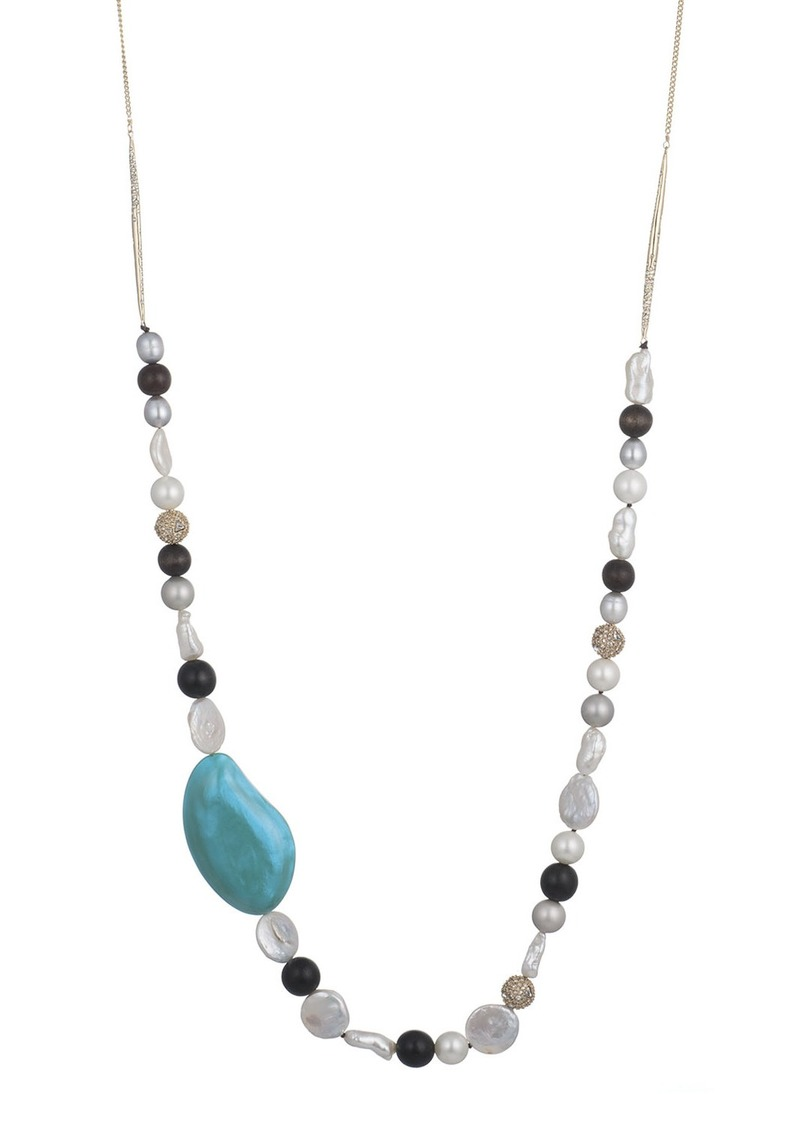 Alexis Bittar Beaded Liquid Silk Necklace