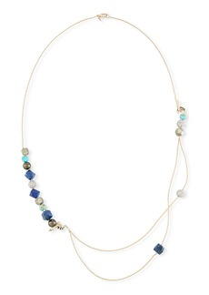 Alexis Bittar Beaded Turquoise & Lapis Double-Chain Necklace