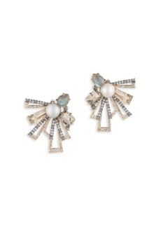 Alexis Bittar Brutalist Butterfly Mismatch Stud Earrings