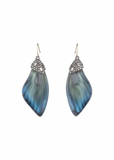 Alexis Bittar Brutalist Butterfly Wing Drop Earrings
