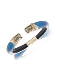 Alexis Bittar Brutalist Butterfly Stone Baguette Hinge Bracelet