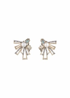 Alexis Bittar Brutalist Stone Cluster Stud Earrings