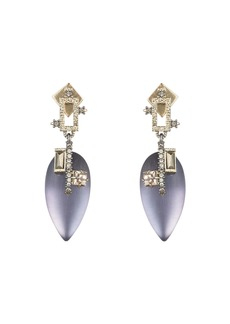Alexis Bittar Brutalist Teardrop Earrings  Purple