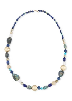 Alexis Bittar Chrysocolla  Lapis & Turquoise Beaded Necklace  43