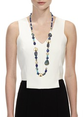 Alexis Bittar Chrysocolla  Lapis & Turquoise Beaded Necklace  43