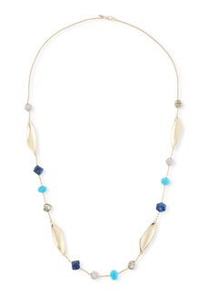Alexis Bittar Chrysocolla  Lapis & Turquoise Station Necklace  45