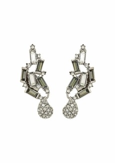 Alexis Bittar Climbing Crystal Baguette Post Earrings