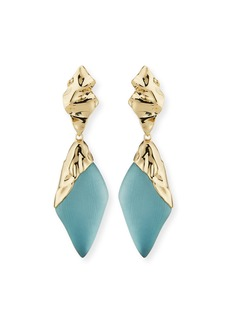 Alexis Bittar Crumpled Cap-Drop Earrings  Blue