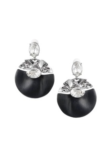 Alexis Bittar Crumpled Crystal Studded Clip Earrings