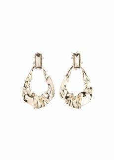 Alexis Bittar Crumpled Gold Dangling Earrings