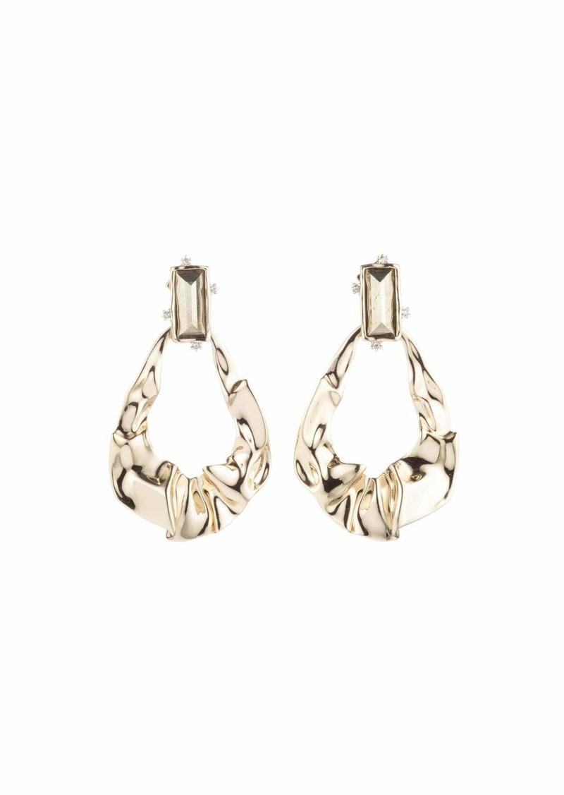 Alexis Bittar Crumpled Gold Dangling Earrings