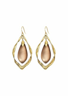 Alexis Bittar Crumpled Metal Framed Wire Earrings