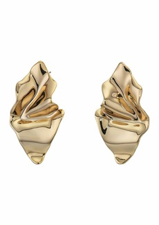 Alexis Bittar Crumpled Metal Post Earrings