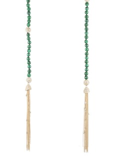 Alexis Bittar Crystal & Malachite Sautoir Tassel Necklace