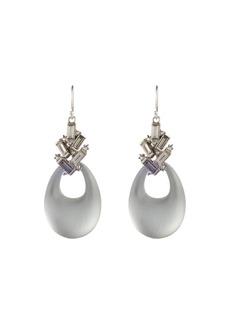 Alexis Bittar Crystal Baguette Cluster Drop Earrings  Gray