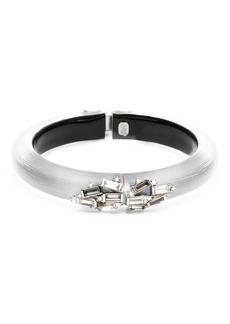 Alexis Bittar Crystal Baguette Cluster Hinge Bracelet  Gray