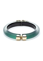 Alexis Bittar Crystal Baguette Cluster Hinge Bracelet  Green