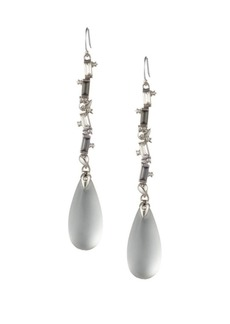 Alexis Bittar Swarovski Crystal Baguette Linear Drop Wire Earrings