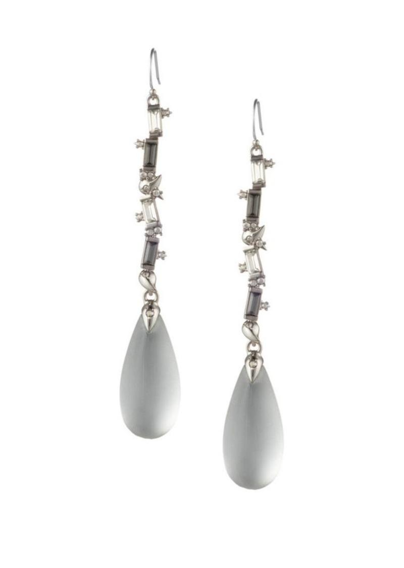 Alexis Bittar Swarovski Crystal Baguette Linear Drop Wire Earrings