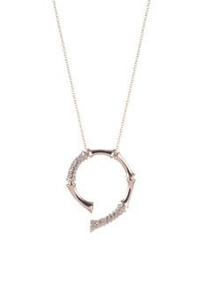 Alexis Bittar Crystal Bamboo Horseshoe Pendant Necklace