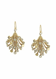 Alexis Bittar Crystal Burst Articulated Wire Drop Earrings