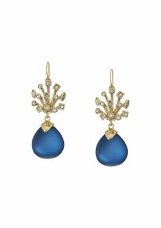 Alexis Bittar Crystal Burst Wire Drop Earrings