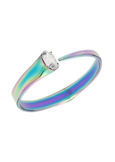 Alexis Bittar Crystal Capped PVD Hinge Bracelet