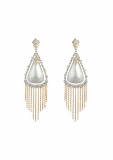 Alexis Bittar Crystal Capped Tassel Chain Earrings
