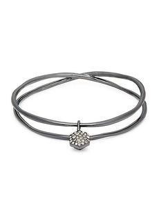 Alexis Bittar Crystal Charm Double-Strand Bangle