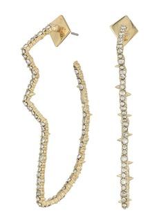 Alexis Bittar Crystal Encrusted Abstract Tulip Hoop Earrings