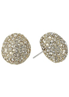 Alexis Bittar Crystal Encrusted Button Post Earrings