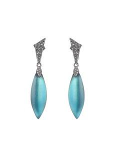 Alexis Bittar Crystal Encrusted Dangle Earrings  Green