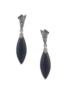 Alexis Bittar Crystal Encrusted Dangling Post Earrings